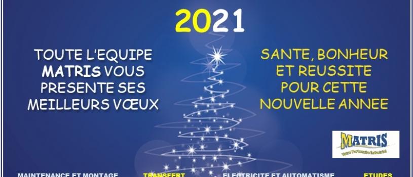 VOEUX 2021: pour une année plus sereine