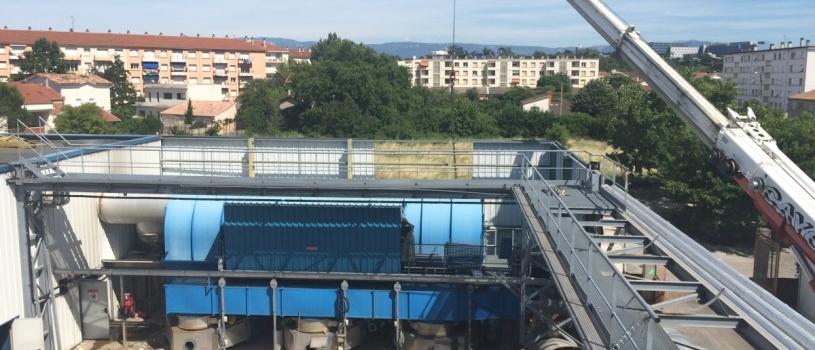 Transfert complet d'une usine – août 2015